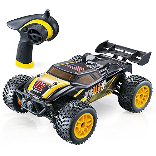 GPTOYS S607 All Terrain Remote Control Car - Splash Resistant, Fast 4 X 4 Off Road Electric RC Truggy, Hobby Grade 1/24 Scale - Best Gift for Boys & Girls and Even Adults (Car Remote Control Gasoline compare prices)