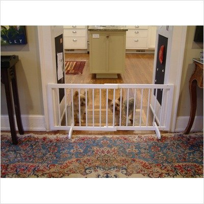"Cardinal Step Over Gate White 28"" - 51.75"" X 20"" Sg-1-Wh front-753751"