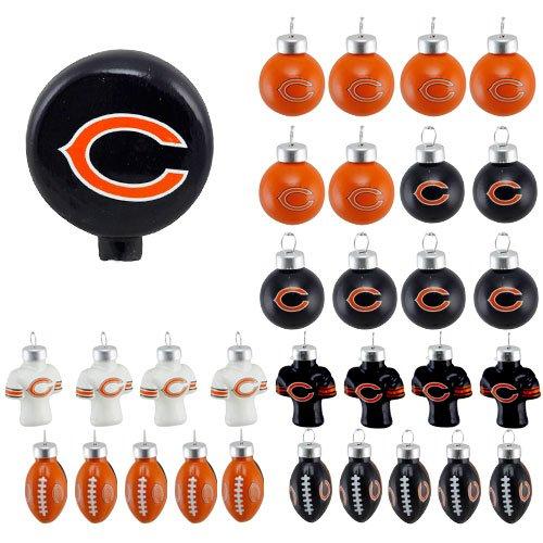 NFL 31 Piece Ornament Set NFL Team: Chicago Bears