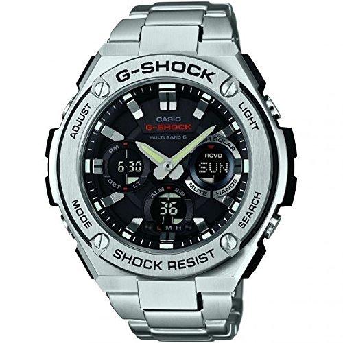 Casio GST-W110D-1AER Mens G-Shock Radio Controled Solar Powered Silver Watch