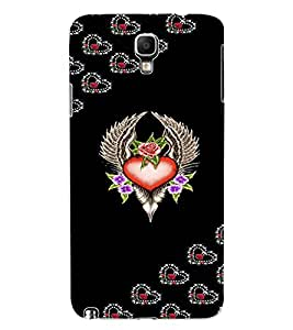 ColourCraft Love Heart Design Back Case Cover for SAMSUNG GALAXY NOTE 3 NEO N7505
