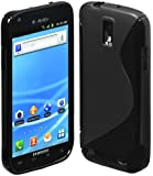 niceeshop(TM) Black S Line TPU Case for Samsung Galaxy S2 T989 With Screen Protector