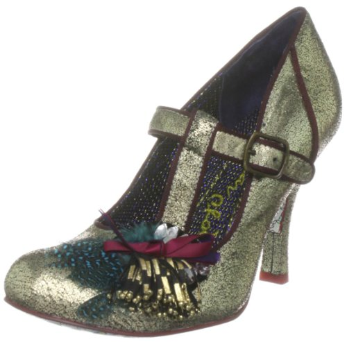 Irregular Choice Women's Serpintime Gold T Straps Heels 3960-4C 6 UK, 39 EU
