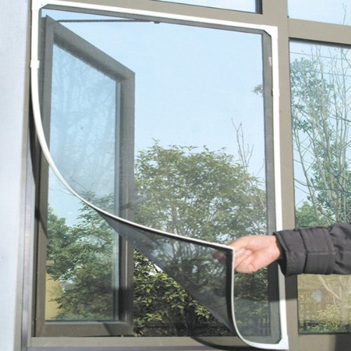Insect Mosquito Door Window Mesh Screen Sticky Velcro Tape Net front-437687