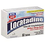 Rite Aid Pharmacy Loratadine, Original Prescription Strength, 10 mg, Tablets, 60 tablets