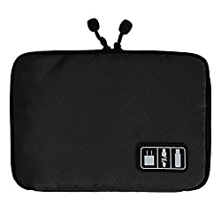 1 p c Organizers Bag for Hard Drive for Earphone Cables USB Flash Drives (Black)