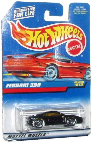 Mattel Hot Wheels 1997 Series 1:64 Scale Die Cast Metal Car # 813 - Black Exotic Sport Coupe Ferrari 355