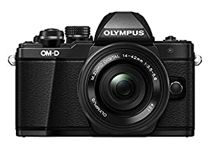 Olympus OM-D E-M10 Mark II Mirrorless Digital Camera with 14-42mm EZ Lens (Black)