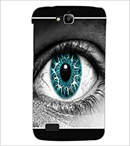 PrintDhaba Blue Eye D-1289 Back Case Cover for HUAWEI HONOR HOLLY (Multi-Coloured)