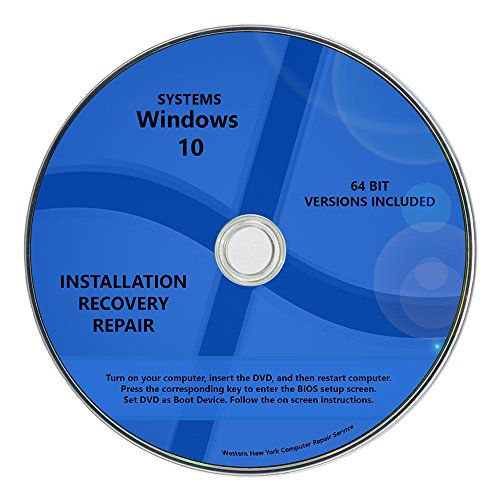 Windows 10 Pro & Home Install Reinstall Upgrade Restore Repair Recovery 64 bit x64 All in One Disc WNYPC Utility DVD (Windows 7 Repair compare prices)