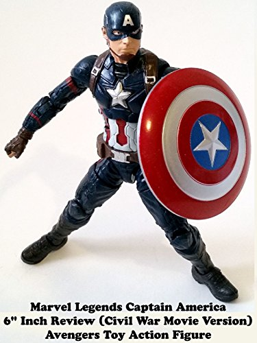 "Marvel Legends CAPTAIN AMERICA (Civil War Movie giant man BAF) 6"" Inch Avengers toy action figure"