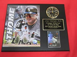 Jim Thome Chicago White Sox Collectors Clock Plaque w 8x10 Photo and Card by J & C Baseball Clubhouse