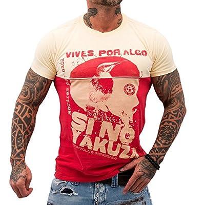 Yakuza ORIGINAL T-Shirt TSB 621 - ribbon red moonwashed