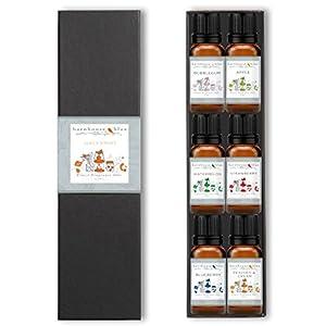 Premium Grade Fragrance Oils - Juicy Fruit - Gift Set 6/10 Ml Bottles - Apple, Blueberry, Bubble Gum, Peaches & Cream, Strawberry, Watermelon