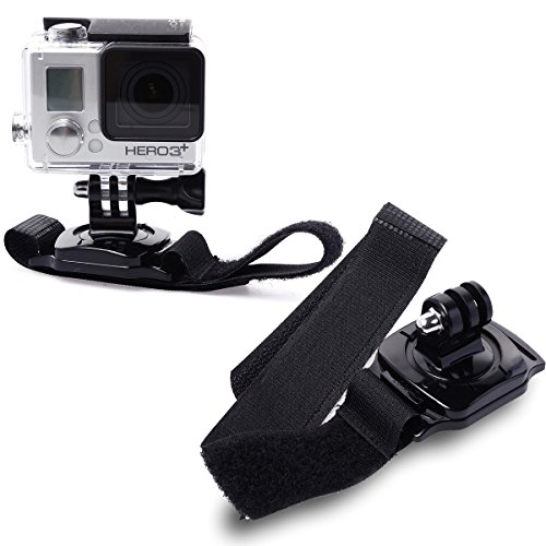XCSOURCE® ceinture de fixation sur poignet de bras vélcro élastique rotative 360 degrés pour GoPro Hero 1 2 3 3+ 4 étui OS79