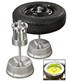Portable Hubs Wheel Balancer W/ Bubble Level Heavy Duty Rim Tires Cars Trucks HD