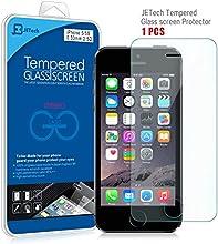 JETech® Vidrio Templado Protector de Pantalla Empaquetado al por Menor para Apple iPhone 5/5S/5C