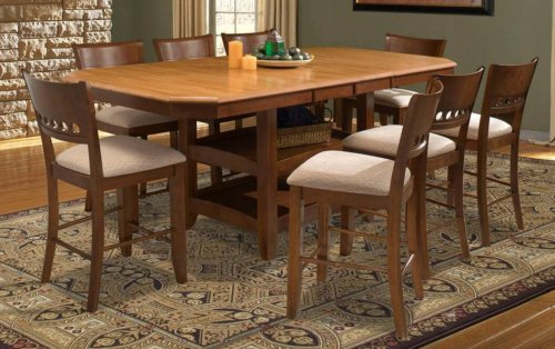 Buy Low Price Entree Entree Camden Counter Height Dining Table with Double Butterfly Leaf (CAM-428436T, CAM-428436B)