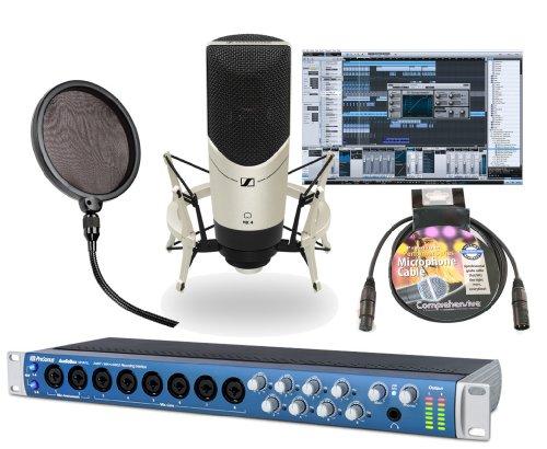 Presonus Audiobox 1818Vsl - 18 Input / 18 Output Audio Interface With Presonus Studio One Artist + Sennheiser Mk4 Studio Condenser Microphone With Shockmount, Samson Ps01 Pop Filter &Comprehensive Performer Series Lo-Z Xlr Microphone Cable With Neutrik B