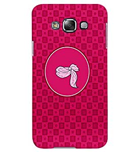 PRINTVISA Abstract Pink Pattern Case Cover for Samsung Galaxy E7