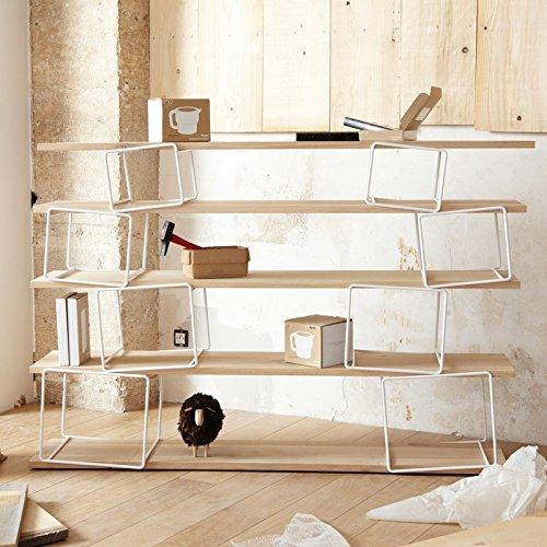 Quake–Libreria bianca legno quercia