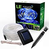 LE® 16.5ft LED Solar Rope Lights - Waterproof - 50 LEDs - Outdoor Rope Lights - Blue - String Light - Portable - with Light Sensor - Ideal for Christmas - Wedding - Party - Decorations - Gardens - Lawn - Patio