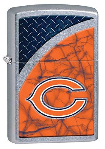 Zippo NFL Chicago Bears Street Chrome Pocket Lighter (Chicago Bears Lighter compare prices)