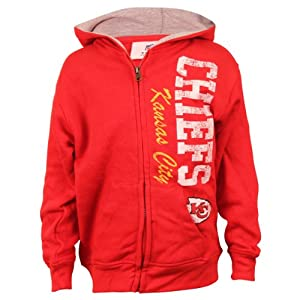 Kansas City Chiefs Youth Full Zip NFL Hoodie (Red) by NFL