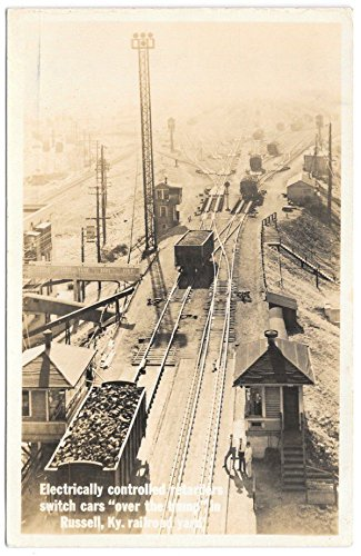real-photo-postcard-electrically-controlled-retarders-railroad-cars103921