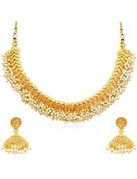 Sukkhi Excellent Jalebi Gold Plated Choker Necklace Set For Women