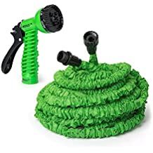 IREKO GH75 Expandable Lawn Garden Hose 75 Foot Car Washing Watering Plants Auto Wash Cleaning 7-way Spray Nozzle...
