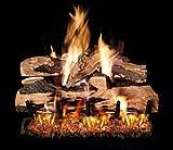 Peterson Real Fyre 18-inch Split Oak Designer Plus Log Set With Vented Natural Gas G4 Burner - Match Light