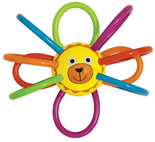 Manhattan Toy Zoo Winkel Lion Rattle And Sensory Teether front-1068396