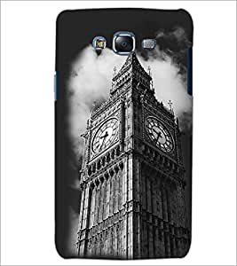 PrintDhaba Clock Tower D-2432 Back Case Cover for SAMSUNG GALAXY J7 (Multi-Coloured)