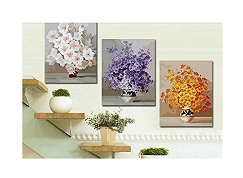 Pack of 20¡¡[WOODEN FRAMED] Diy Oil Painting, paint By Number- Rich Blessings 16*20 inch 6101 e066 home wall furniture decorations diy number painting children graffiti painting by numbers