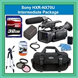 Sony HXR-NX70U NXCAM Compact Camcorder with 96GB Flash Memory Starter Package Includes NPFV100 Battery, 32GB SDHC Memory Card + More!!!!
