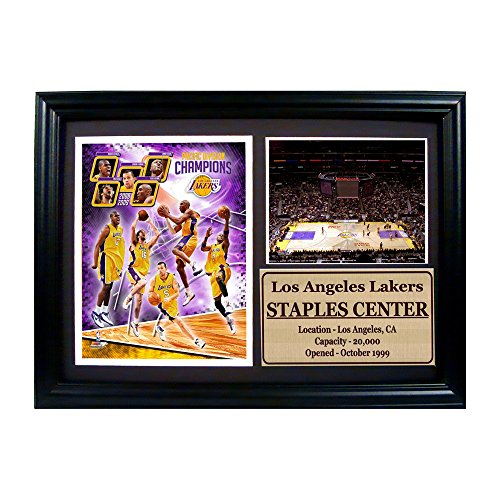 Encore Select Los Angeles Lakers 2009 Team Photograph with Statistics Nested on a 12