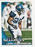 2010 Topps NFL Football Card #89 Leon Washington - Seattle Seahawks - NFL Trading Card at Amazon.com