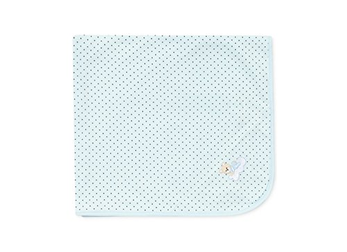 Little Me Blue Sleeping Bear Tag-Along Blanket - 1