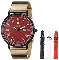 Steinhausen Men's SW493-LR Dunn Horitzon Analog Display Swiss Quartz Black Watch Set