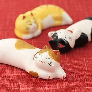薬師窯うたたね猫箸置きセット