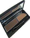 KAIKSO-IN Augenbrauen-Kuchen pwoder Brow Powder Makeup Augenbrauen Schatten 2 Farbe mischen natürlichen Augenbrauen