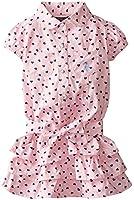 U.S. POLO ASSN. Little Girls' Twill Heart-Print Ruffle Dress