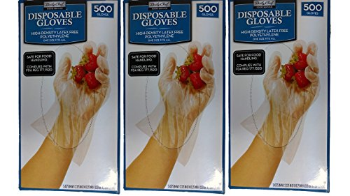 Daily Chef Disposable Gloves 1500 Count (Chef Disposable Gloves compare prices)