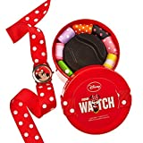 DISNEY KIDS MINNIE MOUSE GIRLS WATCH - 11 COLOURED RIBBONS - CHILDRENS GIFT SET