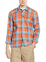 Salewa Camisa Hombre Therma Pl M L/S Srt (Naranja / Turquesa)