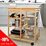 SoBuy Lengthen Size Solid Wood Kitche...
