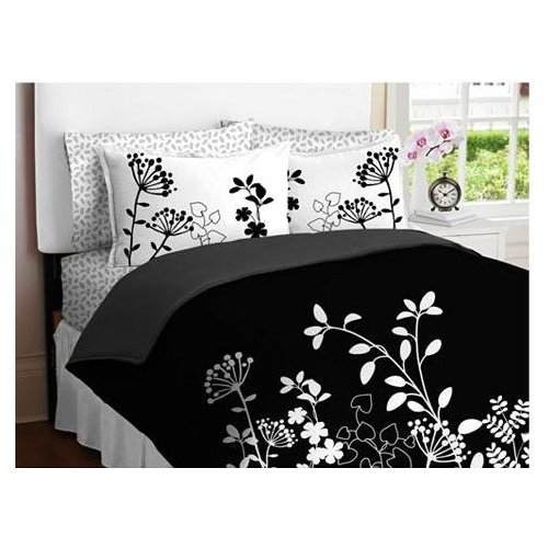Black And White Floral Bedding Tktb