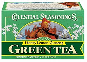 Green Tea-Honey Lemon Ginseng Celestial Seasonings 20 Bag
