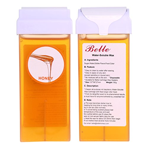 Belle Depilatory 150g(5.30oz)Warm Honey Soft Hot Sugar Wax Cartridge Hair Removal Warmer of 2pcs /set (Honey Hair Removal compare prices)